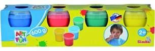Simba 106334998 - Art & Fun Fingermalfarben 4 x 150g