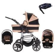 Bebebi London | ISOFIX Basis & Autositz | Hartgummireifen | 4 in 1 Kinderwagen Set | Farbe: St. Paul's
