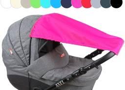 BABYLUX Sonnenschutz SONNENSEGEL für Kinderwagen UNI Buggy UV Schutz Amarant