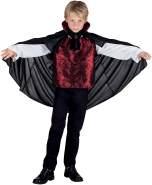 Boland 78043 - Kinderkostüm Vampir König, Größe 140, dunkelrot