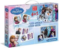 Clementoni 13495.3 - Edukit 4-in-1 Frozen - Die Eiskönigin