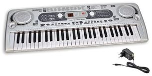 Bontempi 16 5415 Digitales Keyboard, grau