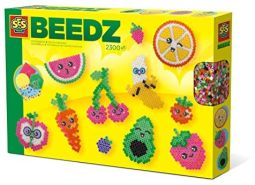 SES Creative 6266 Beedz-Bügelperlen Kawaii-Früchte, Diverse Farben
