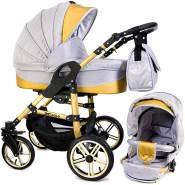 Tabbi ECO X GOLD | 2 in 1 Kombi Kinderwagen | Luftreifen | Farbe: Light Grey