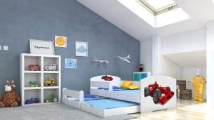 Angelbeds 'Luk' Kinderbett 80x160 cm, Motiv 25, inkl. Flex-Lattenrost, Schaummatratze und Schubbett