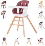 Chipolino Hochstuhl 3 in 1 Rotto, Kinderstuhl, drehbarer Sitz, Höhe verstellbar rot