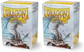 Dragon Shield 11008 Standard Sleeves Kartenhhüllen, Matte Silver