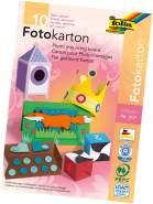 folia 607 - Block mit farbig sortiertem Fotokarton, DIN A3, 10 Blatt, 300 g/qm, ideale Grundlage für vielfältige Bastelarbeiten wie Fensterbilder, Scrapbooking, Kartengestaltung