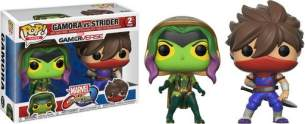 Funko 22776 Pop Vinyl 2er-Pack: Capcom Marvel: Gamora vs Strider, Multi