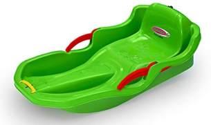 Jamara 460540 Snow Play Bob Comfort 80 cm grün mit Bremse-Lenken durch Bremshebel, aerodynamische Bauweise, langlebiger, schlagzäher Kunststoff-bequemer, ergonomischer Sitz
