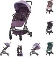 Chipolino Kinderwagen Roxy, Korb klappbar Räder gefedert Rückenlehne verstellbar lila
