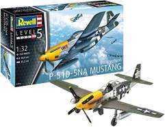 Revell 03944 03944-Modellbausatz Flugzeug 1:32-P-51D Mustang im Maßstab 1:32, Level 5, Orginalgetreue Nachbildung mit vielen Details