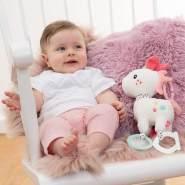 FEHN 057096 Activity-Einhorn mit Ring / Motorikspielzeug zum Aufhängen mit spannenden Anhängern zum Greifen und Geräusche erzeugen, für Babys und Kleinkinder ab 0+ Monaten