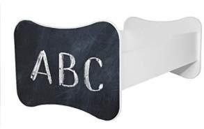 Angelbeds 'Mati Mati' Kinderbett 80 x 160 cm, Motiv ABC, mit Lattenrost, Matratze und mit Bettschublade