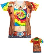 Horror-Shop - Hippie Frau T-Shirt S/M