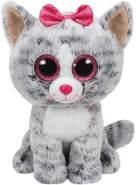 Ty Kiki, Katze mit Glitzeraugen, Beanie Boos, 15cm, grau