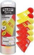 Talbot-Torro Speed-Badminton Shuttles, 6 Stück (4 schnelle 'Racer' und 2 langsame Starter), 490180