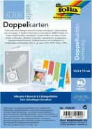 Folia 530134 - Doppelkarten 10x15 weiß