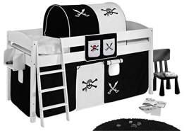 Lilokids 'Pirat' Hängetaschen Schwarz Weiß - für Hochbett, Spielbett und Etagenbett