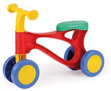 Lena 7165 Lauflernroller My First Scooter, Laufrad bunt, Sitzroller mit Stahlachsen, Lauflernrad zum Balance und Laufen trainieren, Lauflernhilfe Roller für Kleinkinder ab 18 Monate