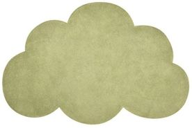Lilipinso h0515Teppich aus Baumwolle Grün