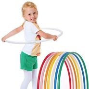 hoopomania® Kinder Hula Hoop Reifen, Durchmesser 75cm in Weiss