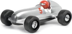 Schuco 450987000-Studio Racer Silver-Max #5, my1stSchuco, Spielauto für Kinder ab 1 Jahr, Rennwagen Spielzeug ab 12 Monaten, silber/schwarz