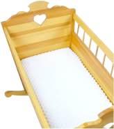 BABYLUX Spannbettlaken 40 x 90 x 10 Bettlaken Spannbetttuch Laken Minky Weiß