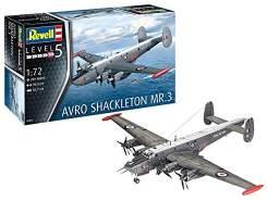 Revell 03873/3873 Avro Shackleton MR.3, Flugzeugmodell 1:72, 39 cm Modelmaking, Unlackiert