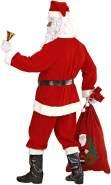 Widmann 1546S – Kostüm, Weihnachtsmann Deluxe, Kasack, Hose, Gürtel, Hut, Stiefelüberzieher, Perücke, Augenbrauen, Bart mit Schnurrbart, rot-weiß, Nikolaus, Santa Claus, Weihnachten, Nikolaustag