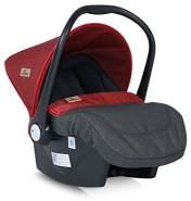 Lorelli Babyschale Lifesaver Gruppe 0+ (0-13 kg), Sonnendach, Fußabdeckung, Farbe:schwarz/rot
