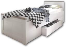 Bega 'Luca' Einzelbett weiß/trüffel mit Schublade