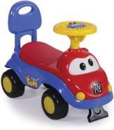 Moni Rutschauto, Rutscher Dream Car mit Rückenlehne, Kippschutz, Musikfunktion (Blau)
