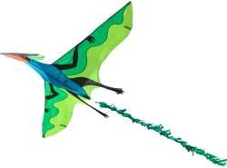 HQ 106516 - Flying Dinosaur 3D Einleiner, ab 10 Jahren, 105x180 cm und 7m Drachenschwanz, inkl. 17kp Polyesterschnur 40m auf Spule, 2-5 Beaufort