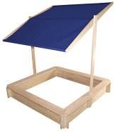 Beluga Spielwaren 50352 'Sandkasten mit Dach', 118 x 118 x 118 cm, ab 3 Jahren, inkl. höhenverstellbaren Dach, blau