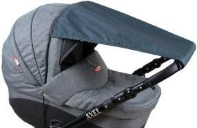 BABYLUX Sonnenschutz SONNENSEGEL für Kinderwagen UNI Buggy UV Schutz Graphit