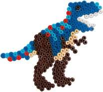 SES Creative 0644033 Bügelperlenset T-Rex Mosaik-Set, Gemischte Farben