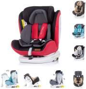 Chipolino Kindersitz Tourneo Gruppe 0+/1/2/3 (0-36 kg), Isofix, 360° drehbar, Farbe:rot-schwarz