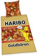Haribo Goldbären Bettwäsche Set 135 x 200 cm 80 x 80 cm 100% Baumwolle