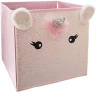 Textil-Aufbewahrungsbehälter, faltbar, rosa, Einhorn unicorn