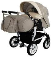 Adbor Duo Spezial Zwillingskinderwagen, Zwillingswagen, Zwillingsbuggy Farbe D-1 beige