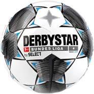 Derbystar Kinder Bundesliga Magic Light Fußball, weiß schwarz blau, 5