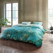 beddinghouse Mako Satin Bettwäsche 2 teilig Bettbezug 135 x 200 cm Kopfkissenbezug 80 x 80 cm Almond Blau