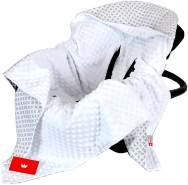 BabyLux 'Maroko' Einschlagdecke 90x90 cm, weiß