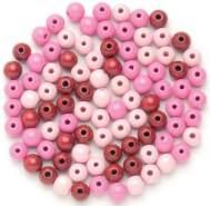 "Glorex Holzperle rosa-mix"" ""6 mm"""""
