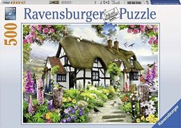 Ravensburger Puzzle 14709 - Verträumtes Cottage - 500 Teile