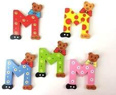 Brink Holzspielzeug Buchstabe: 'M' - 1 Stück, zufällige Auswahl, keine Vorauswahl möglich