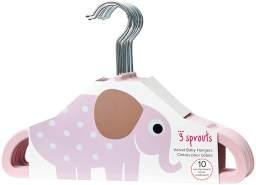 3 Sprouts Kinderkleiderbügel 10-er Set Elefant