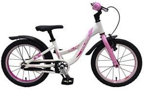 Volare Mädchenfahrrad Glamour weiß-rosa RH 25,4 cm 16 Zoll