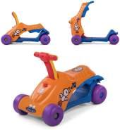 Baby Vivo Scooter Lauflernwagen Lauflernhilfe 2in1 Kinderroller Laufrad Laufwagen Kinder Walker Multifunktional - Orange